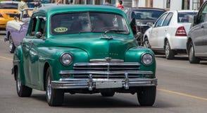 Oud Plymouth in Cuba royalty-vrije stock foto