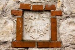 Oud poetsmiddel nationaal embleem Royalty-vrije Stock Foto's
