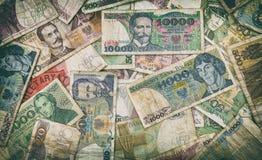 Oud Pools geld - bankbiljetten - achtergrond Stock Fotografie