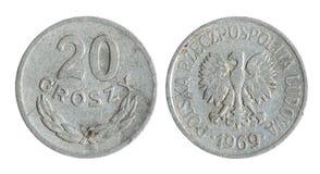 Oud Pools muntstuk (het jaar van 1969) Stock Afbeelding