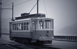 Oud Porto tramspoor stock fotografie