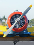 Oud propellervliegtuig Royalty-vrije Stock Foto