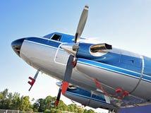Oud propellervliegtuig Royalty-vrije Stock Afbeelding
