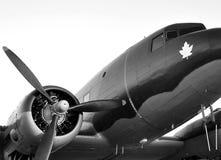 Oud propellervliegtuig Royalty-vrije Stock Foto's