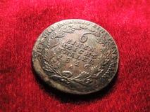 Oud Pruisisch Zilveren Muntstuk Royalty-vrije Stock Foto's
