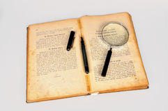 Oud receptenboek royalty-vrije stock fotografie