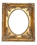 Oud retro gouden frame Royalty-vrije Stock Foto's
