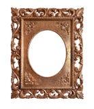 Oud retro gouden frame Royalty-vrije Stock Afbeelding