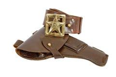 Oud riem en holster Royalty-vrije Stock Foto