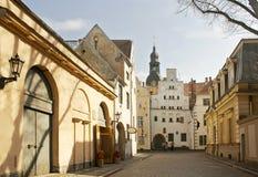 In Oud Riga stock foto's