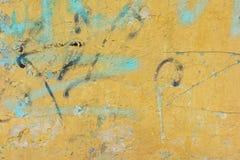 Oud ritselen de muur Royalty-vrije Stock Foto's