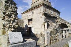 Oud Roemeens kerkontwerp Stock Foto