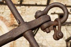 Oud roestig anker in Nessebar royalty-vrije stock foto