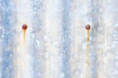 Oud roestig gegalvaniseerd gevormd blad stock illustratie