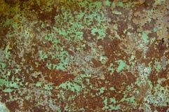 Oud roestig geschilderd ijzer Stock Afbeelding