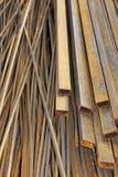 Oud Roestig geweven metaalperspectief als achtergrond, XXXL Stock Afbeelding