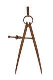 Oud roestig kompas Royalty-vrije Stock Afbeeldingen