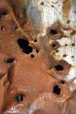 Oud roestig metaal. Stock Foto