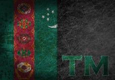 Oud roestig metaalteken met een vlag en van het land afkorting Stock Foto