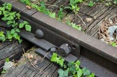 Oud roestig spoor 03 Stock Foto's