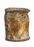Oud roestig tin stock foto's