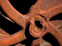 Oud roestig toestel. Detail. stock afbeelding