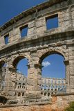 Oud Roman Amfitheater in Pula, Kroatië Royalty-vrije Stock Afbeelding