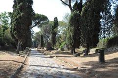 Oud Roman Appian Way, Rome Royalty-vrije Stock Foto's