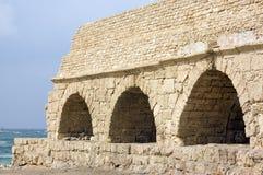 Oud Roman aquaduct Royalty-vrije Stock Afbeeldingen