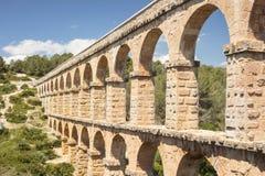 Oud Roman Aqueduct in Spanje, Europa Stock Afbeeldingen