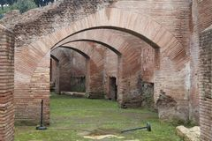 Oud Roman Arch Royalty-vrije Stock Afbeelding