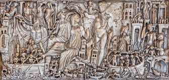Oud roman architectonisch detail royalty-vrije stock foto's
