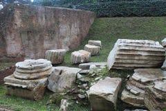 Oud Roman Building Supplies Stock Foto's