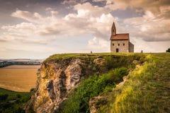 Oud Roman Church in Drazovce, Slowakije Stock Foto