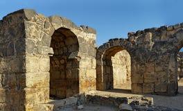 Oud Roman City - Beit Shean stock afbeelding