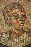 Oud roman mozaïek van rijke patroon Stock Foto