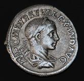 Oud Roman Muntstuk Geta Stock Afbeelding