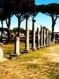 Oud Roman Ruins in Ostia Royalty-vrije Stock Foto