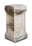 Oud roman steenvoetstuk Stock Fotografie