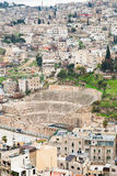 Oud Roman theater in Amman Stock Foto's