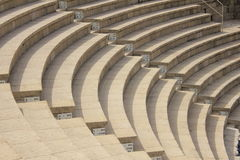 Oud Roman Theater in Caesarea Maritima Royalty-vrije Stock Afbeeldingen