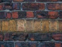 Oud Rood en Tan Brick Background Stock Afbeeldingen