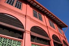 Oud rood Nederlands huis Royalty-vrije Stock Afbeeldingen