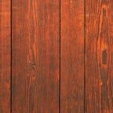 Oud rood van de de textuurmuur van de mahonie houten korrel vierkant als achtergrond Stock Afbeelding