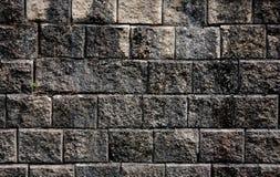 Oud rotsmuur en mos royalty-vrije stock foto's