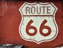 Oud Route 66 -teken in een blad Royalty-vrije Stock Fotografie