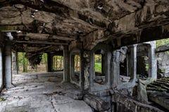 Oud ruïnesbinnenland Stock Fotografie
