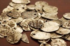 Oud russien muntstukken Royalty-vrije Stock Afbeeldingen