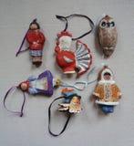 Oud Russisch Kerstmisspeelgoed Royalty-vrije Stock Foto