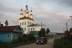 Oud Russisch stadslandschap Royalty-vrije Stock Afbeeldingen